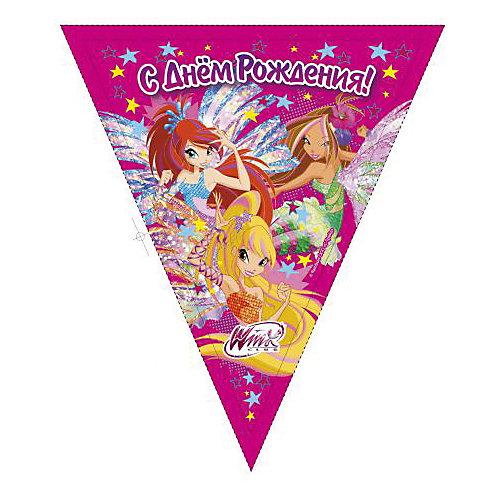 Гирлянда-флаги Веселый праздник Winx Club от Веселый праздник