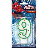 """Свеча-цифра """"9"""", Человек-паук"""