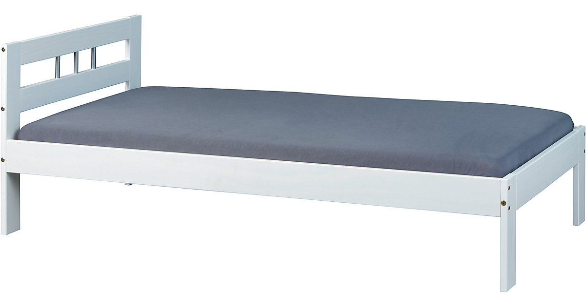 Futonbett Uelsby, Kiefer massiv, weiß, 90x190 cm Gr. 90 x 190