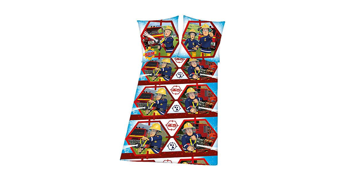 Kinderbettwäsche Feuerwehrmann Sam, Renforcé, 135 x 200 cm