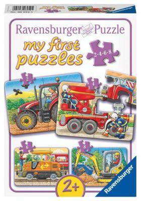 Puzzles & Geduldspiele 3D Puzzle zum selber Bemalen ab 5 Jahre Motiv Schloß oder Baustelle
