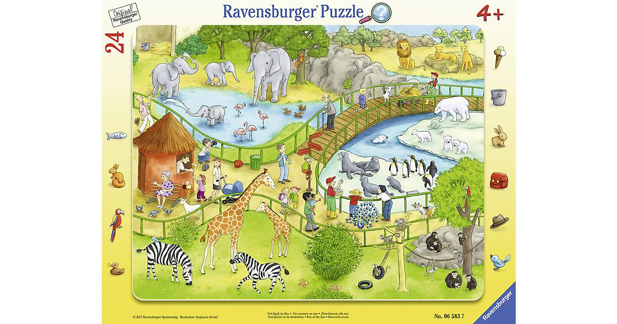 Rahmenpuzzle 24 Teile Viel Spaß im Zoo