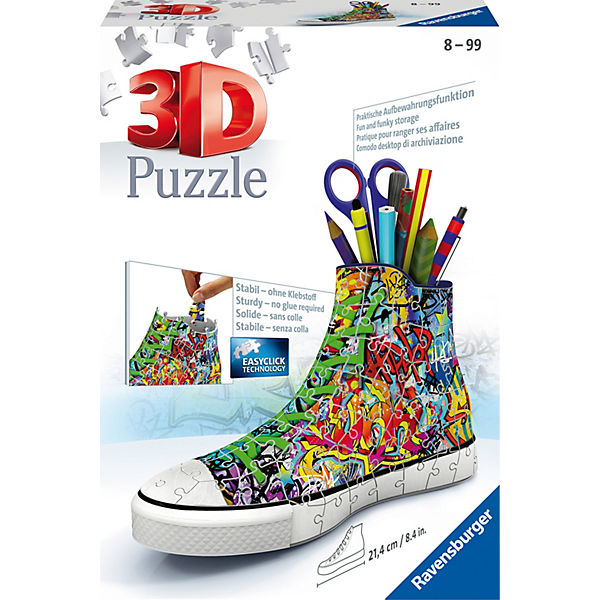 3D Puzzle 108 Teile Girly Girl Edition - Turnschuhe Graffiti Style, Ravensburger