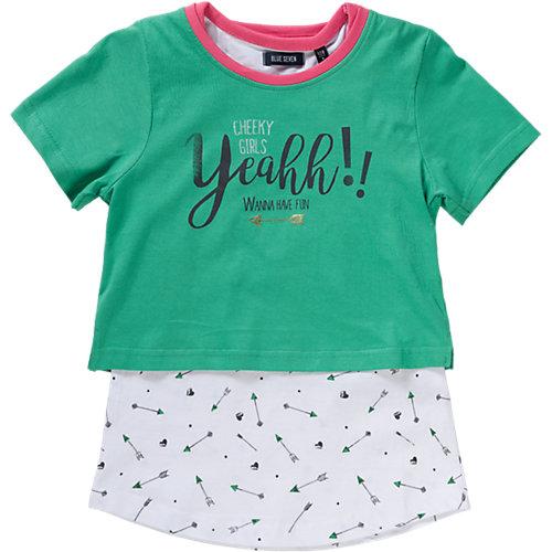 Blue Seven Set T-Shirt + Top Gr. 110 Mädchen Kinder | 04055851600615