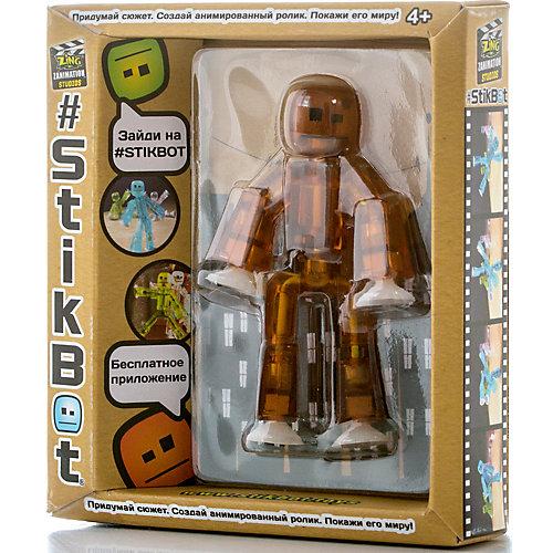 Игрушка-фигурка, коричневая, Stikbot от Zing