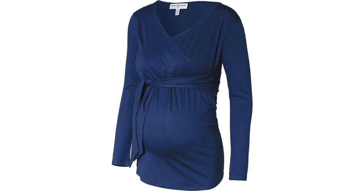 Stilllangarmshirt blau Gr. 42/44 Damen Kinder
