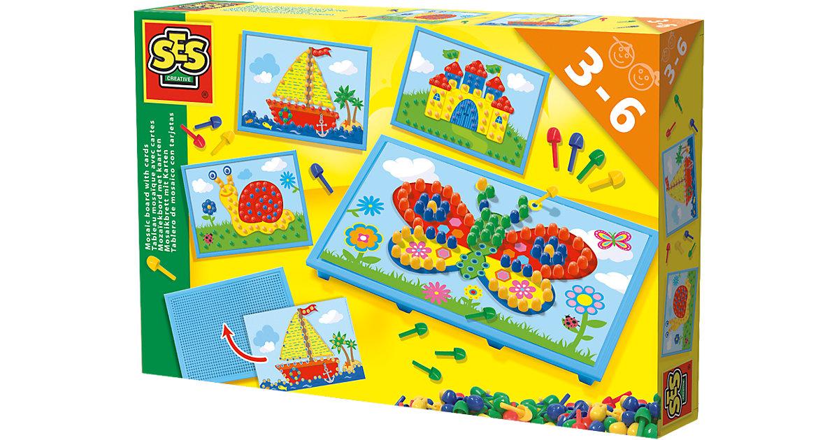 Mosaikbrett mit Vorlagekarten