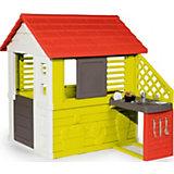Игровой домик Smoby с кухней, красный