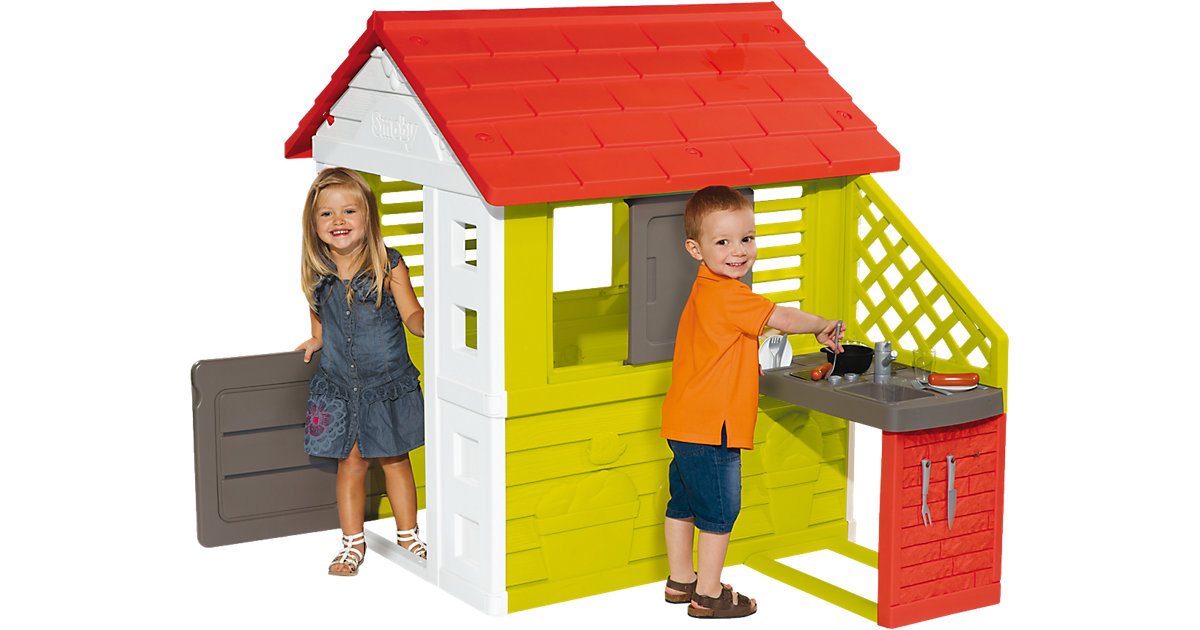 SMOBY · Smoby Natur Haus mit Sommerküche
