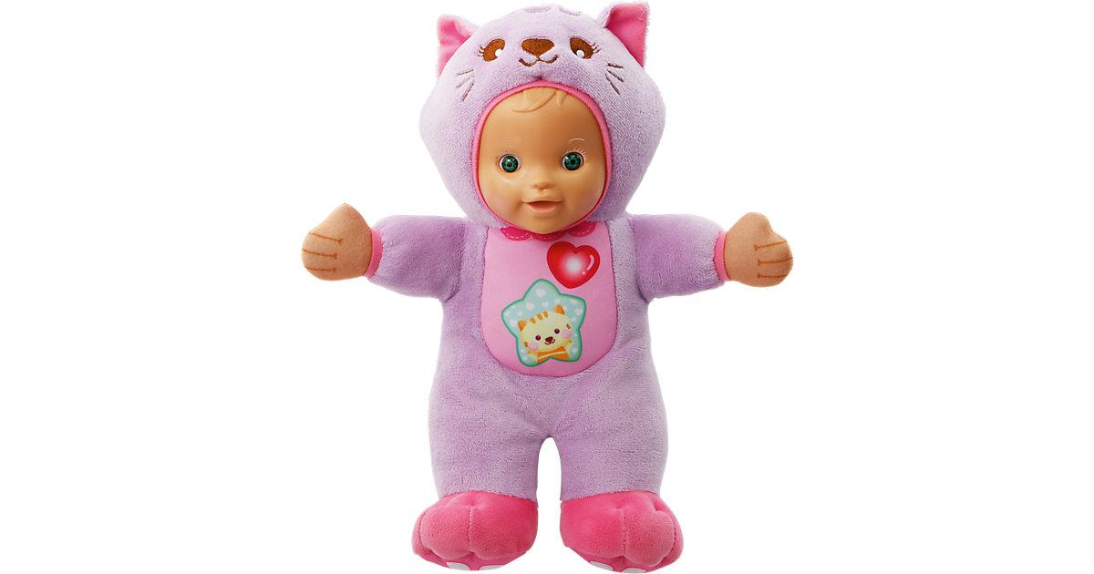 Babypuppe Little Love - Kira im Katzenstrampler Babypuppe