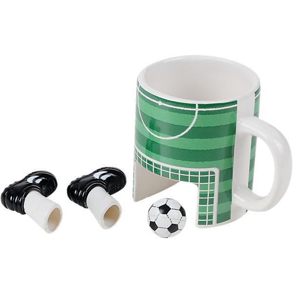 "Kaffeebecher ""Fußball"" mit Füßen & Ball,"