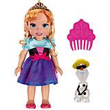 "Кукла-малышка ""Холодное Сердце"" со снеговиком - Анна, 15 см"