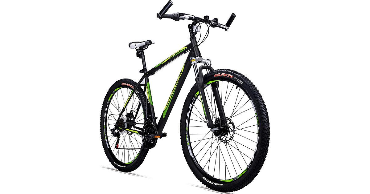 Bergsteiger · Jugendfahrrad Mountainbike Detroit 29 Zoll, schwarz