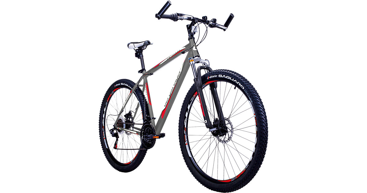 Bergsteiger · Jugendfahrrad Mountainbike Detroit 29 Zoll, grau