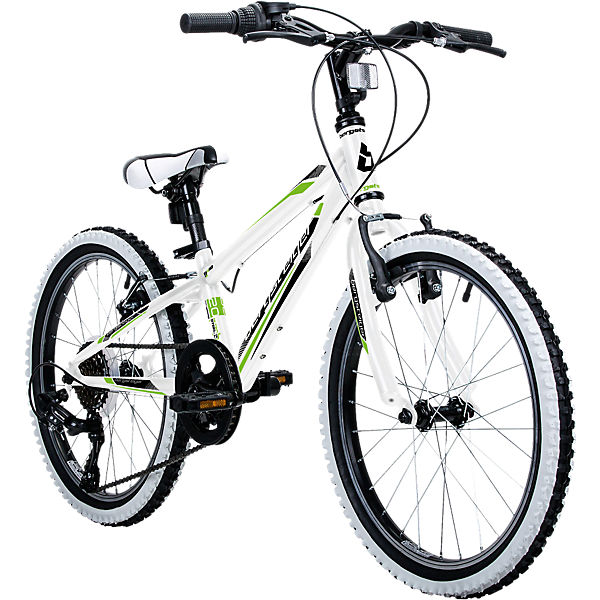 jugendfahrrad mountainbike kansas 20 zoll wei bergsteiger fahrrad mytoys. Black Bedroom Furniture Sets. Home Design Ideas