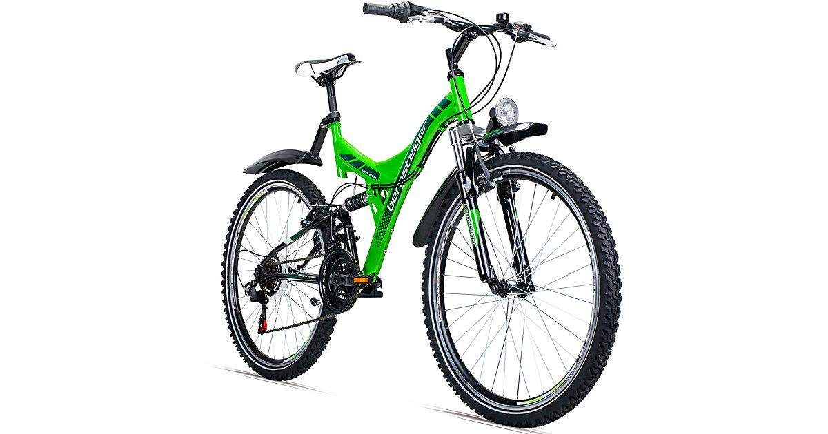Bergsteiger · Jugendfahrrad Mountainbike Memphis 26 Zoll, grün