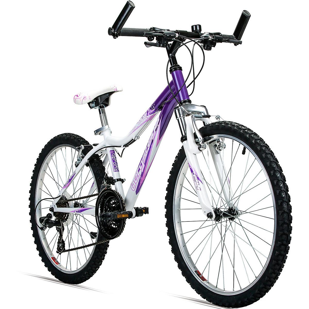 jugendfahrrad mountainbike verona 24 zoll wei lila. Black Bedroom Furniture Sets. Home Design Ideas