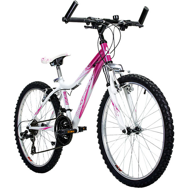 jugendfahrrad mountainbike verona 24 zoll wei pink bergsteiger fahrrad mytoys. Black Bedroom Furniture Sets. Home Design Ideas