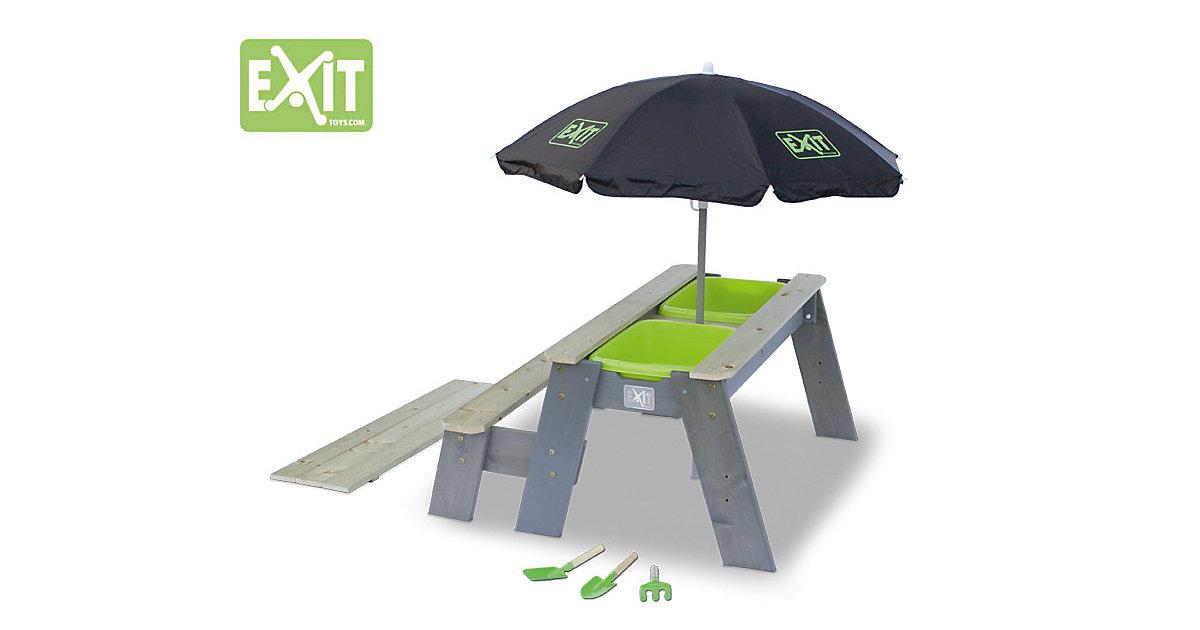 EXIT Aksent Sand-, Wasser- und Picknicktisch (1 Sitzfach) Deluxe grau