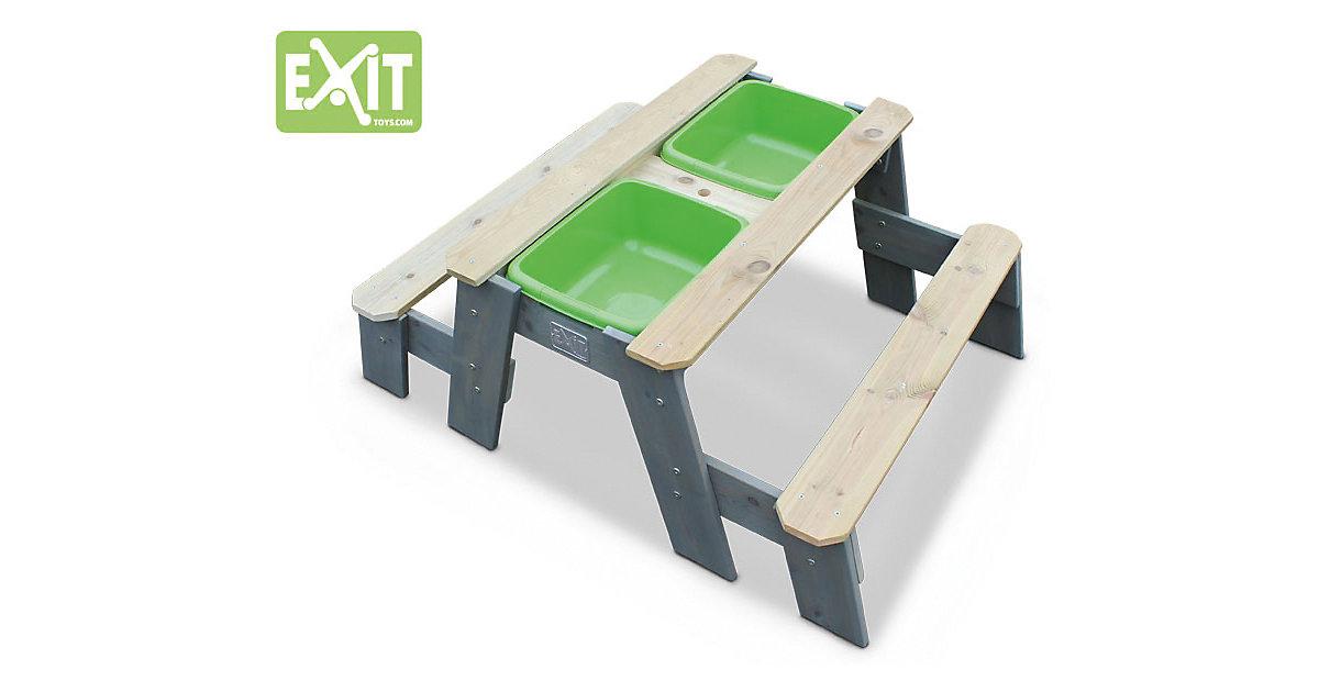 EXIT Aksent Sand-, Wasser- und Picknicktisch (2 Sitzfächer) grau