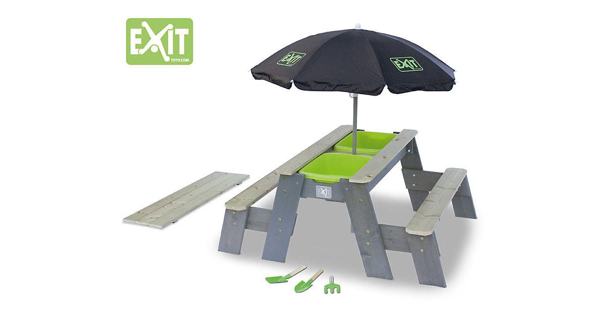 EXIT Aksent Sand-, Wasser- und Picknicktisch (2 Sitzfächer) holzfarben