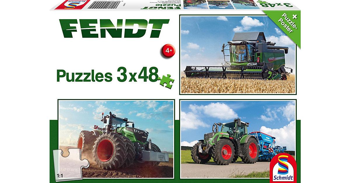 Kinderpuzzleset 3 x 48 Teile, Traktor Fendt 1050 Vario/724 Vario/6275L