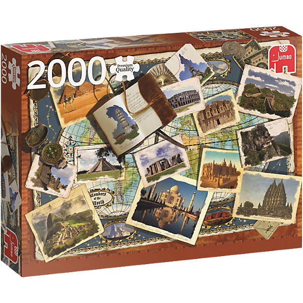 Puzzle 2000 Teile - Wonders of the World