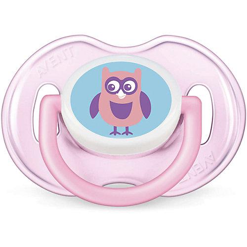 Силиконовая пустышка Classic, 0-6 мес., 2 шт., Philips Avent, розовый/белый от PHILIPS AVENT
