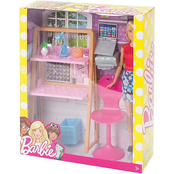 barbie m bel arbeitszimmer puppe barbie mytoys. Black Bedroom Furniture Sets. Home Design Ideas