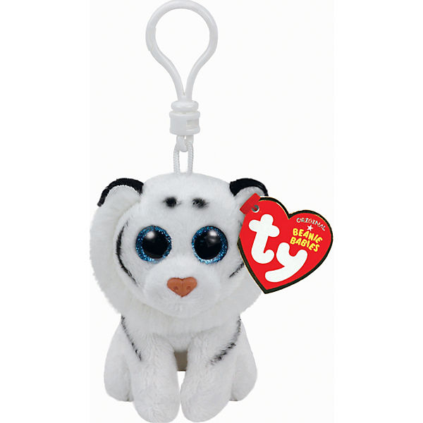 Beanie Babies Clip Tiger Tundra, weiss 8,5c, Ty