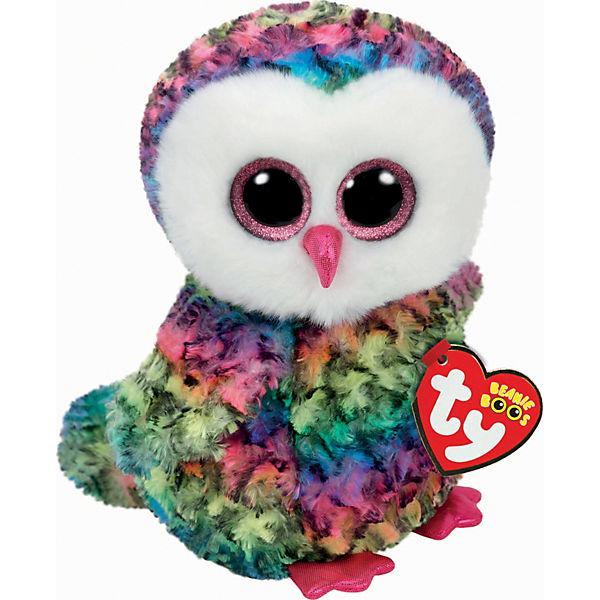 Beanie Boo Eule Owen multicolor, 24cm, Ty