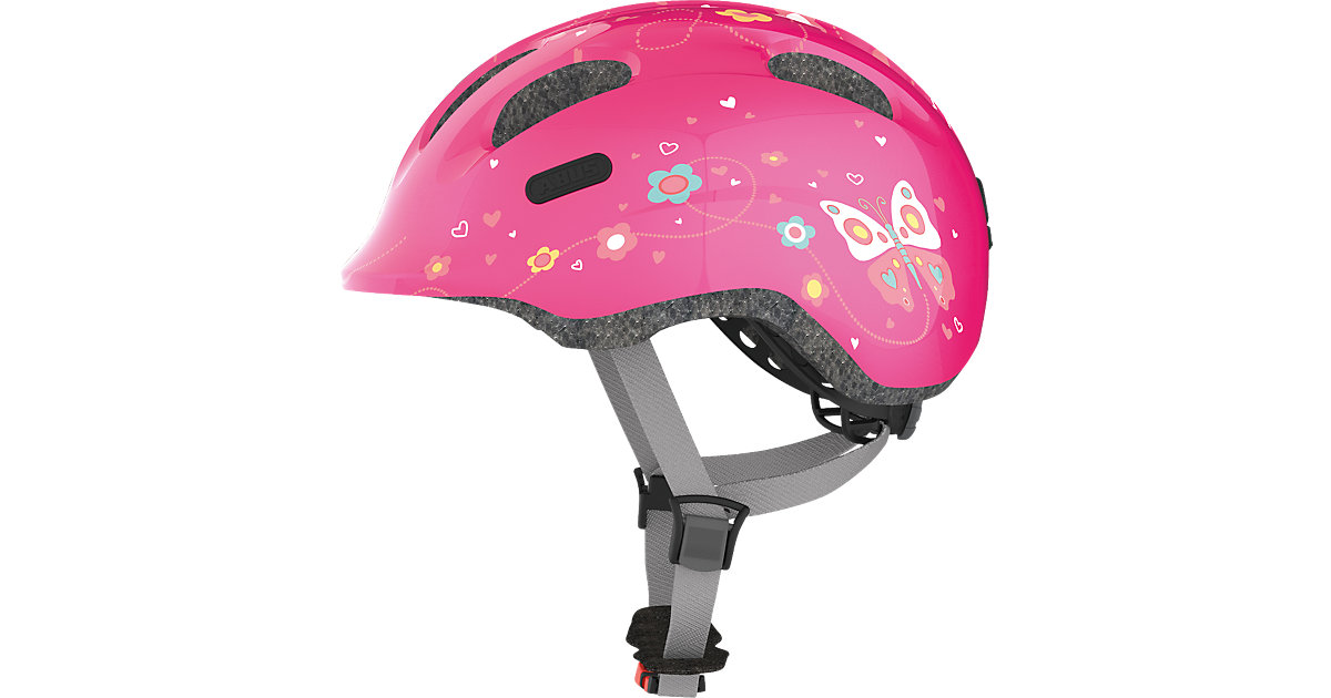 Fahrradhelm Smiley 2.0, pink butterfly Gr. 45-50