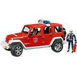 Машинка Bruder Пожарный внедорожник Jeep Wrangler Unlimited Rubicon, с фигуркой