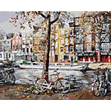 """Живопись на холсте """"Осенний Амстердам"""" 40*50 см"""
