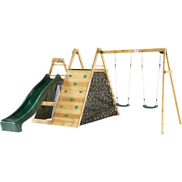kletter pyramide mit doppelschaukel aus holz plum mytoys. Black Bedroom Furniture Sets. Home Design Ideas