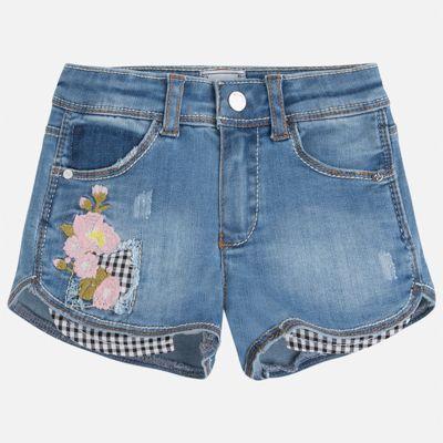 Шорты джинсовые для девочки Mayoral - синий