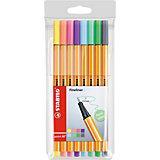 """Набор капиллярных ручек Stabilo """"Point"""" пастель, 8 цветов"""