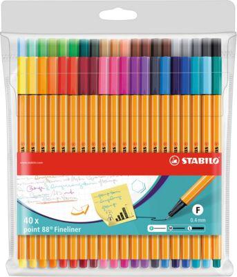 """Капиллярные ручки Stabilo """"Point 88"""", 40 цветов"""