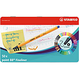 """Капиллярные ручки Stabilo """"Point 88"""", 50 цветов"""