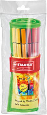 """Фломастеры Stabilo """"Pen fan"""", 25 цветов"""