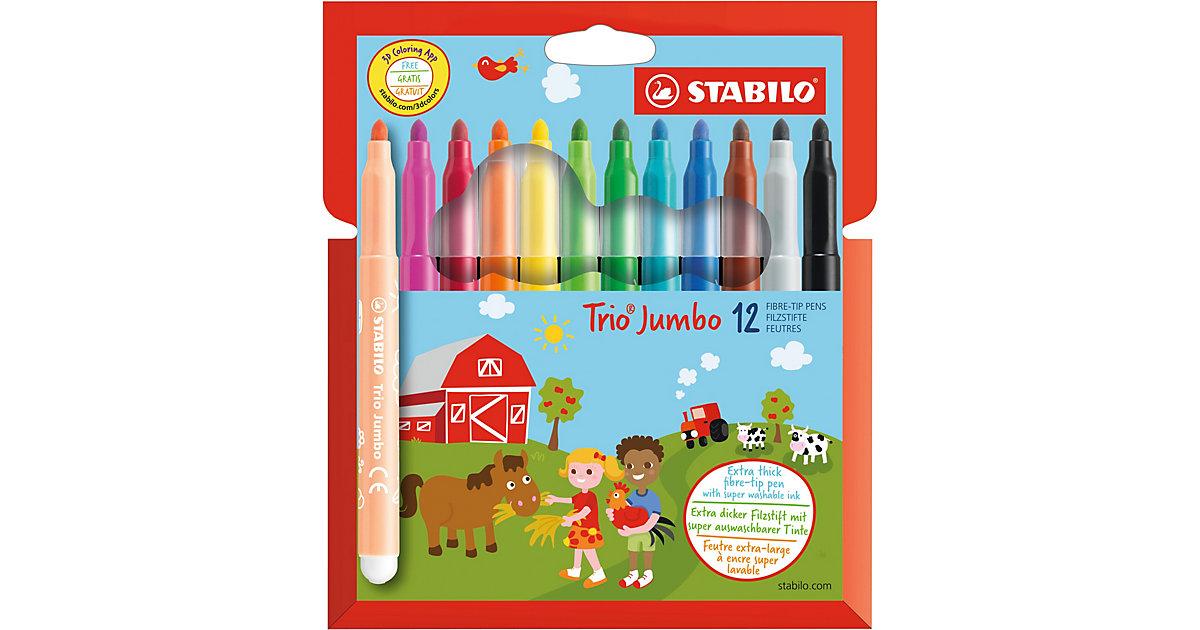 Filzstifte Trio Jumbo, 12 Farben