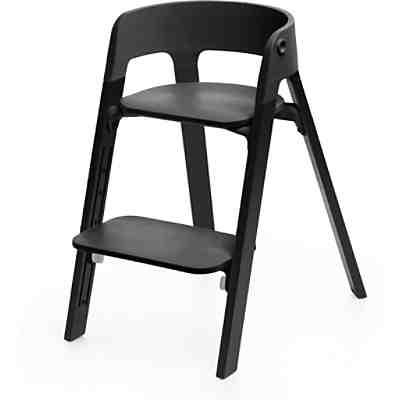 steps hochstuhl sitz black inkl beine buchenholz natural stokke mytoys. Black Bedroom Furniture Sets. Home Design Ideas