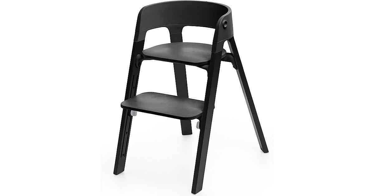 Stokke · Steps™ Hochstuhl, Sitz black inkl. Beine Eichenholz, black