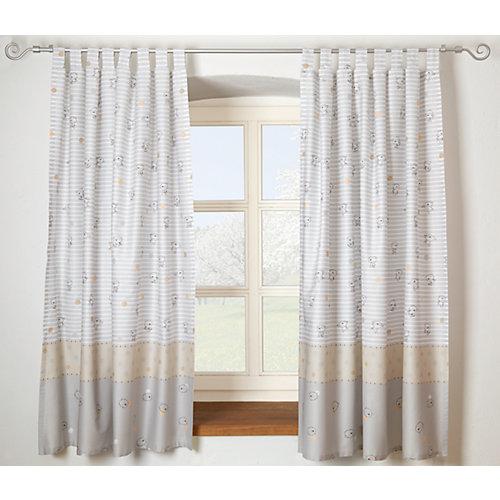 Alvi Vorhang Set Streifenbär, beige, je 130 x 150 cm (2 Schals) Sale Angebote Neukieritzsch
