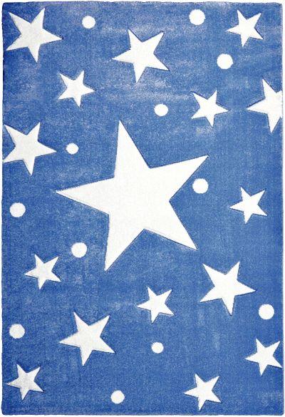 Kinderteppich blau  Teppich, STAR blau/weiß, 160 cm rund, Happy Rugs | myToys
