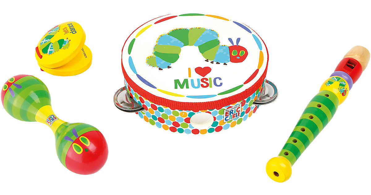 Raupe Nimmersatt Musik-Set (Flöte, Tamburin, Ma...