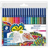"""Набор фломастеров Noris Club, 20 цветов, специальное издание """"Colour your moments!"""""""