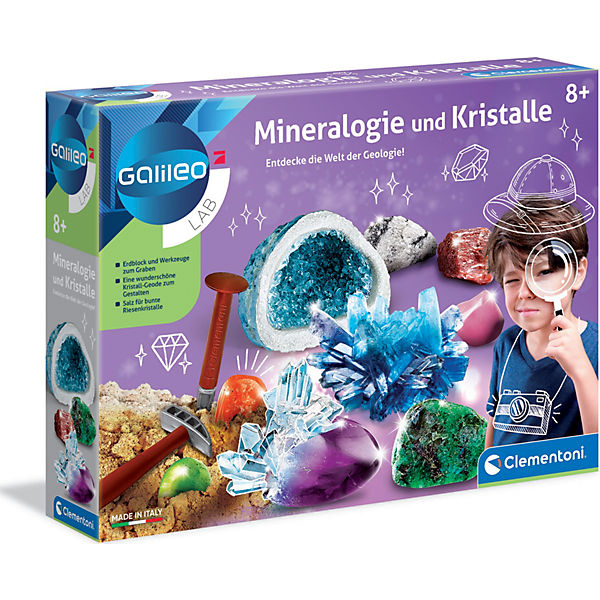 Galileo - Ausgrabungsset Mineralogie und Kristalle, Galileo