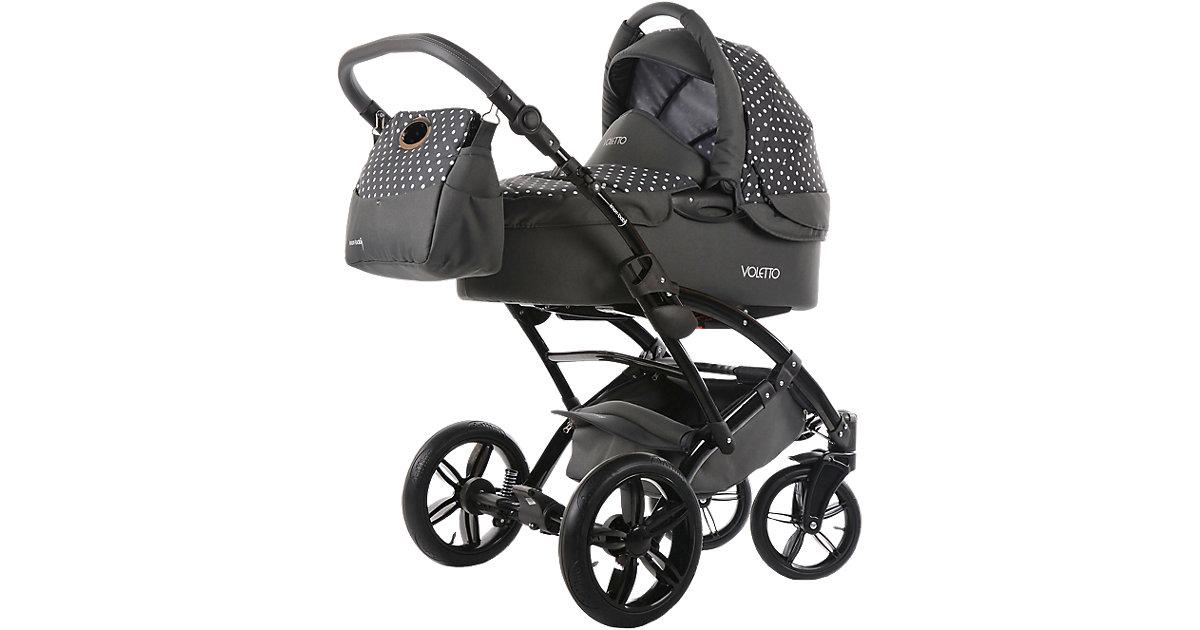 Knorr Toys · Knorr-Baby Kombikinderwagen Voletto 3in1 grau-weiß