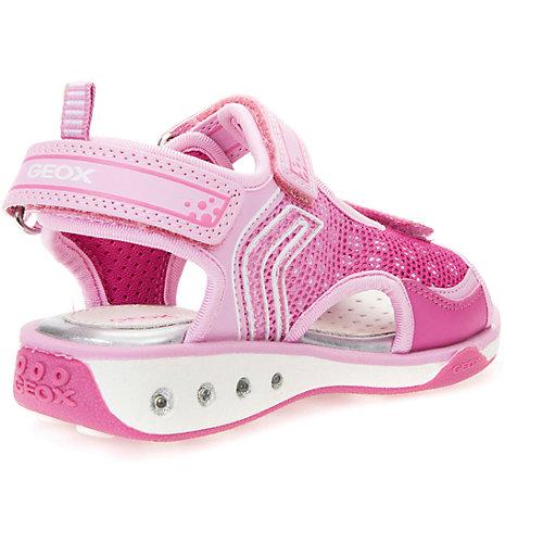 Сандалии со светодиодами для девочки Geox - розовый от GEOX